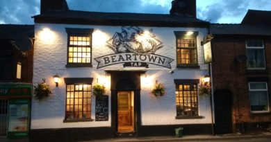 Autumn Pub of the Season award to Beartown Tap, Congleton, 16th November